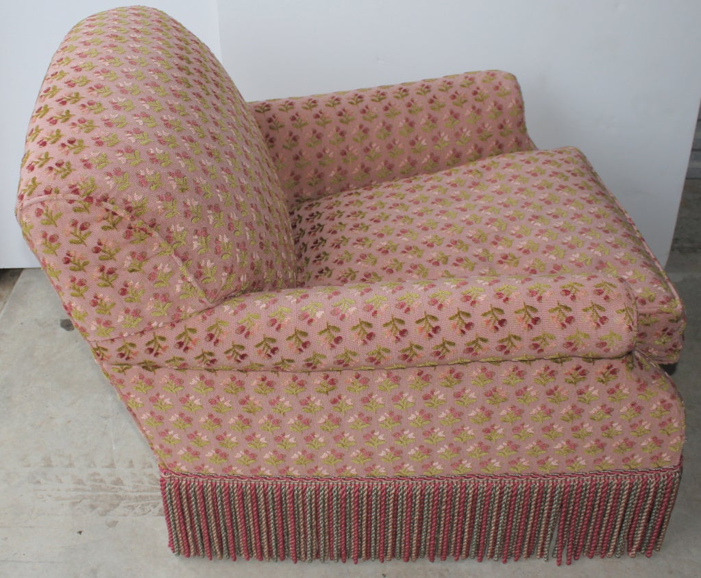 Pair Of Comfortable Overstuffed Chairs At 1stdibs