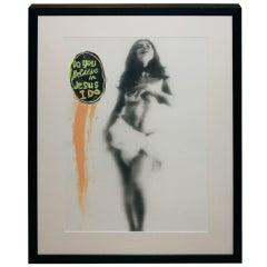 Hannah Wilke Attributed Paint on Print Nude Self Portrait