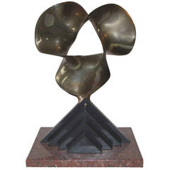 Fred Schumm Bronze, Wood and Marble Sculpture, 1989