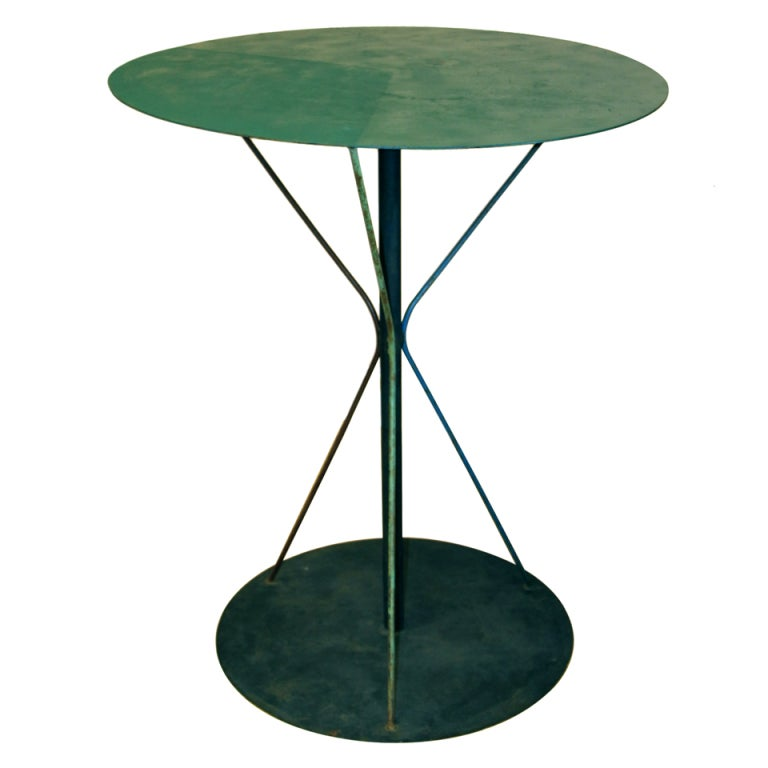 Painted Iron Outdoor Table At 1stdibs