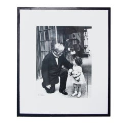 Nat Fein Signed Silver Gelatin Photograph Albert Schweitzer