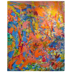 Large Vibrant Abstract Collage