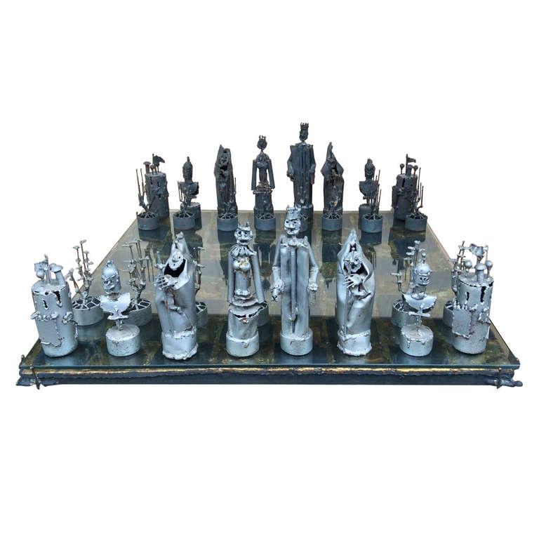 Custom Bruce Friedle Chess Set with Original Receipt