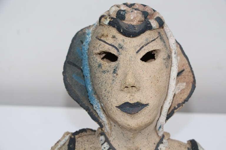Unknown Dama a la Noche 1985 ceramic by Gadu For Sale