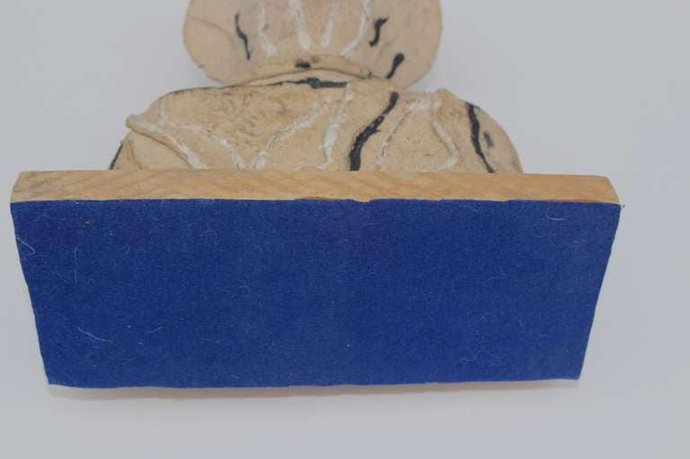 Terracotta Dama a la Noche 1985 ceramic by Gadu For Sale