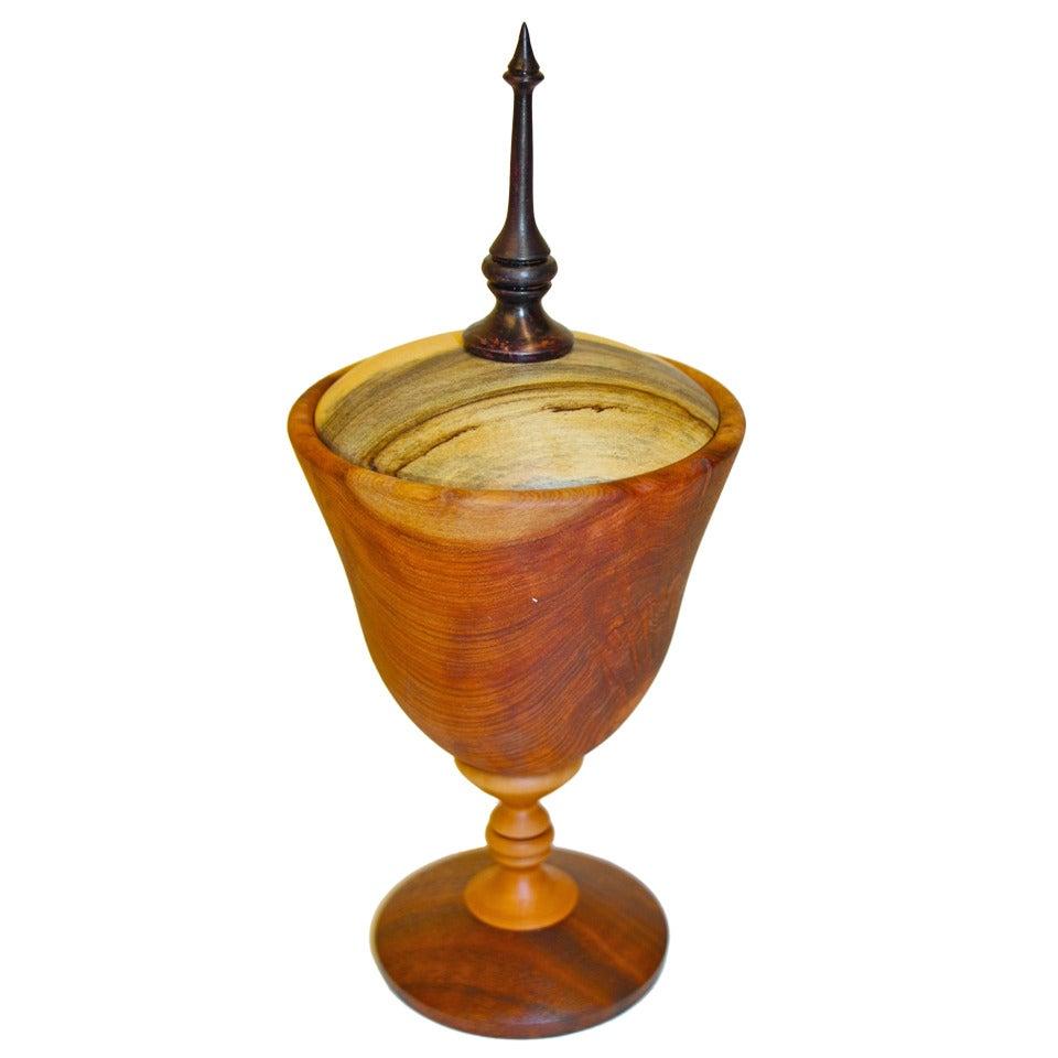 Graceful turned wood bowl by Paul Maurer
