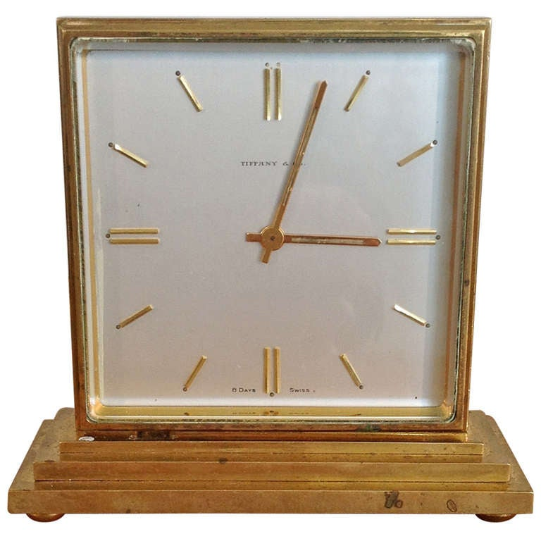 Tiffany And Co Bronze 2 Sided Partners Clock Serviced At