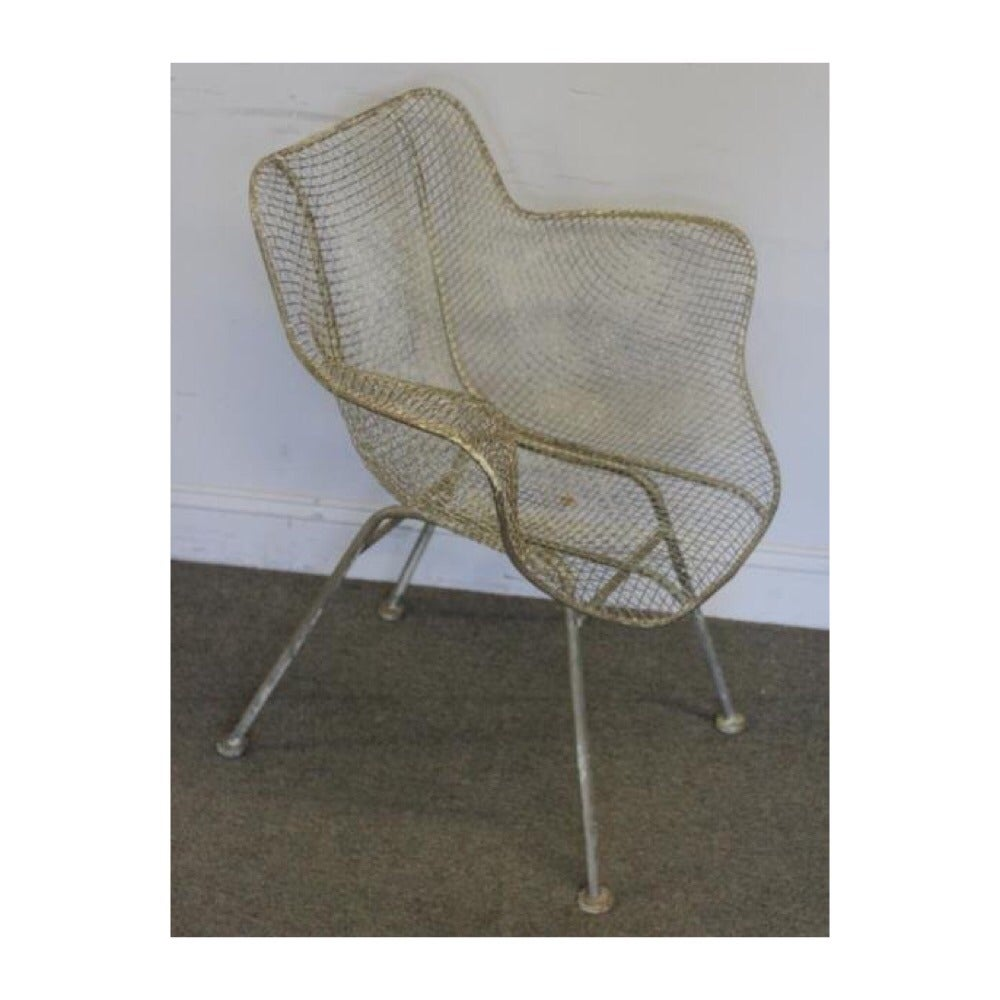 Woodard Sculptural Pair Of Chaise Lounges And Two Chairs