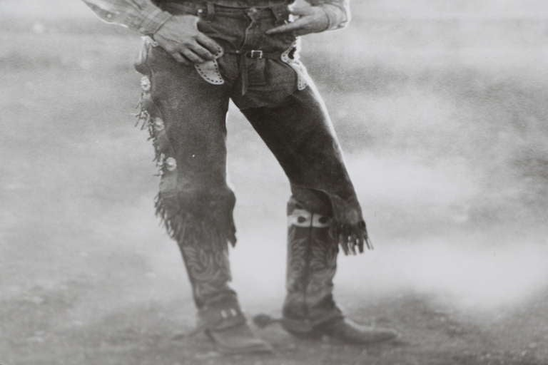 Silver Gelatin Photograph of a Cowboy In Good Condition For Sale In Palm Springs, CA