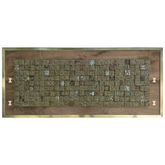 """Giovanni Schoeman """"Conglomerate"""" Metal Wall Sculpture, 1974"""