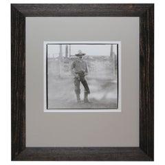 Silver Gelatin Photograph of a Cowboy