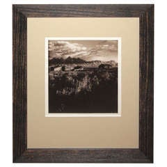 Sepia Toned Silver Gelatin Landscape Photograph