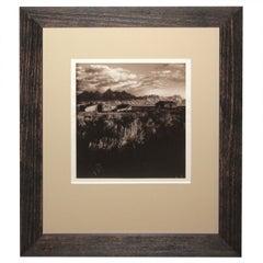 Sepia Toned Silver Gelatin Landscape Photograph