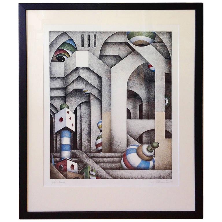 1986 Pier Augusto Breccia Lithograph Memories