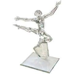 Nude glass male dancer