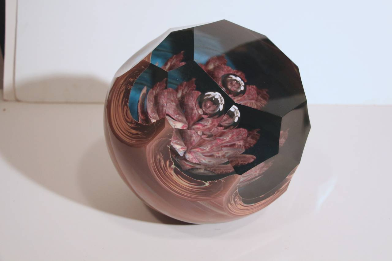 Loredano Rosin Massive Chalcedony Glass Sculpture of a Paperweight For Sale 5