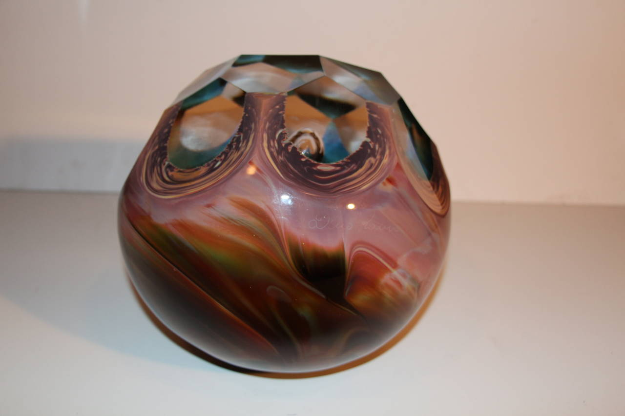 Italian Loredano Rosin Massive Chalcedony Glass Sculpture of a Paperweight For Sale