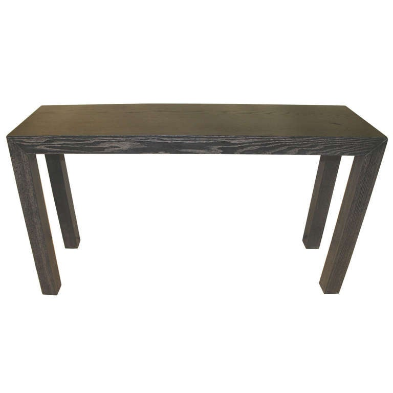 Limed Solid Oak Console Table