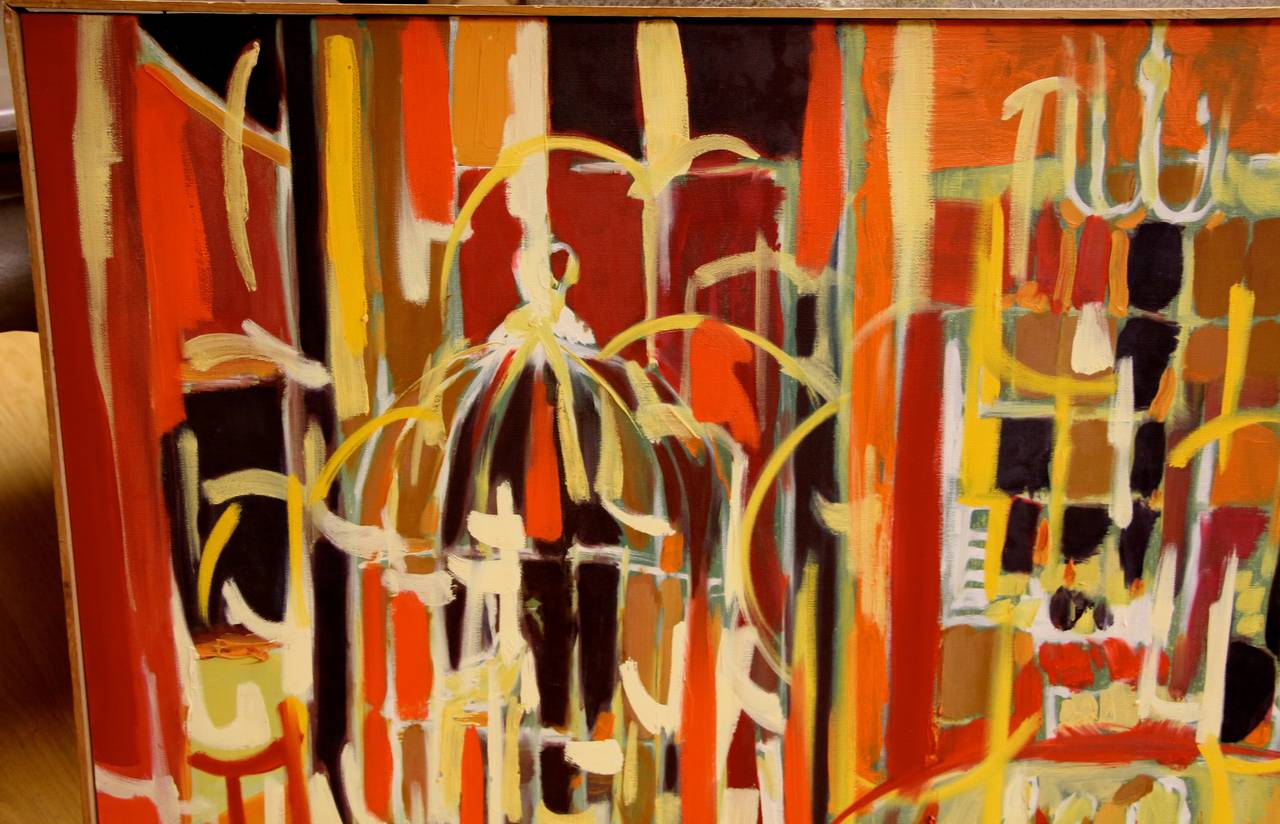 Arnold Weber, 1970, Abstract Painting In Good Condition In Palm Springs, CA