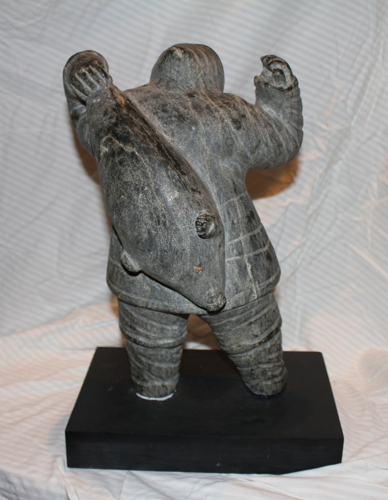 Beautiful hard stone inuit eskimo carving at stdibs