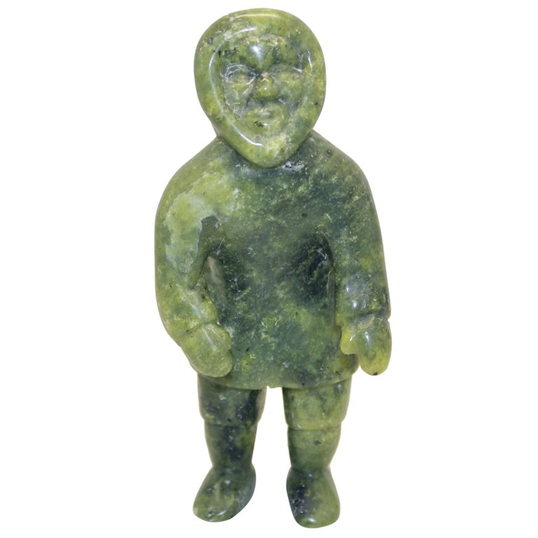 Signed soapstone carving of an eskimo or inuit at stdibs