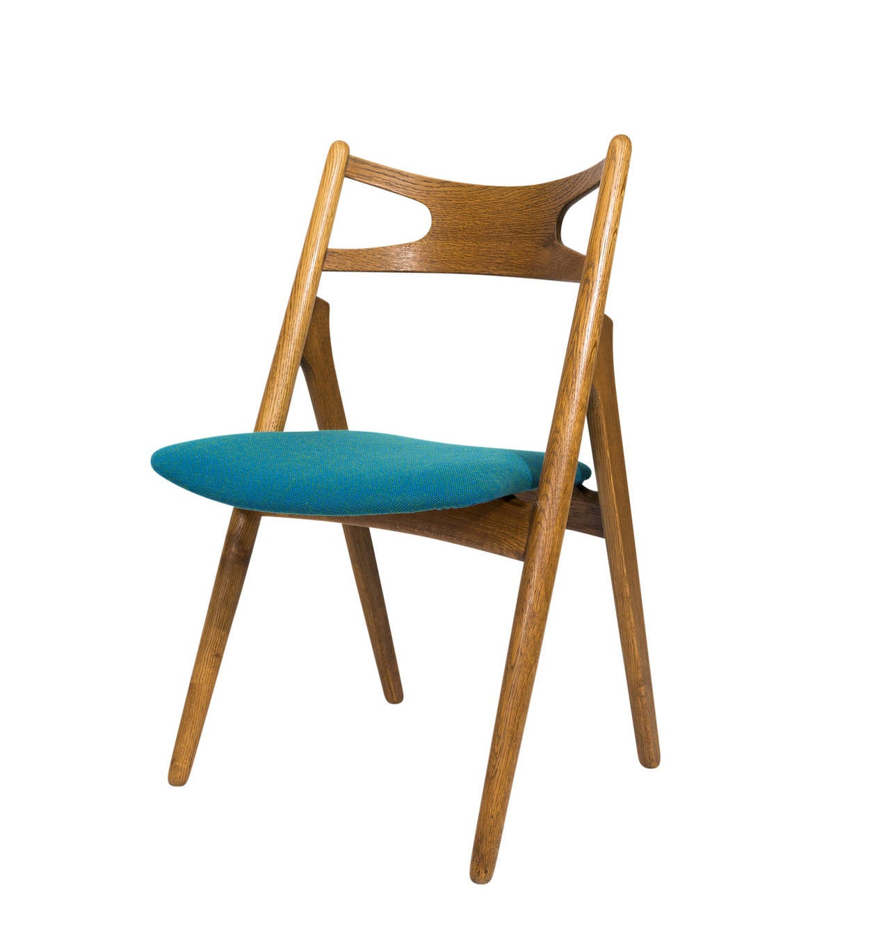 Set of 12 Hans Wegner CH 29 dining chairs designed in 1951 and produced by Carl Hansen & Søn.   Store formerly known as ARTFUL DODGER INC
