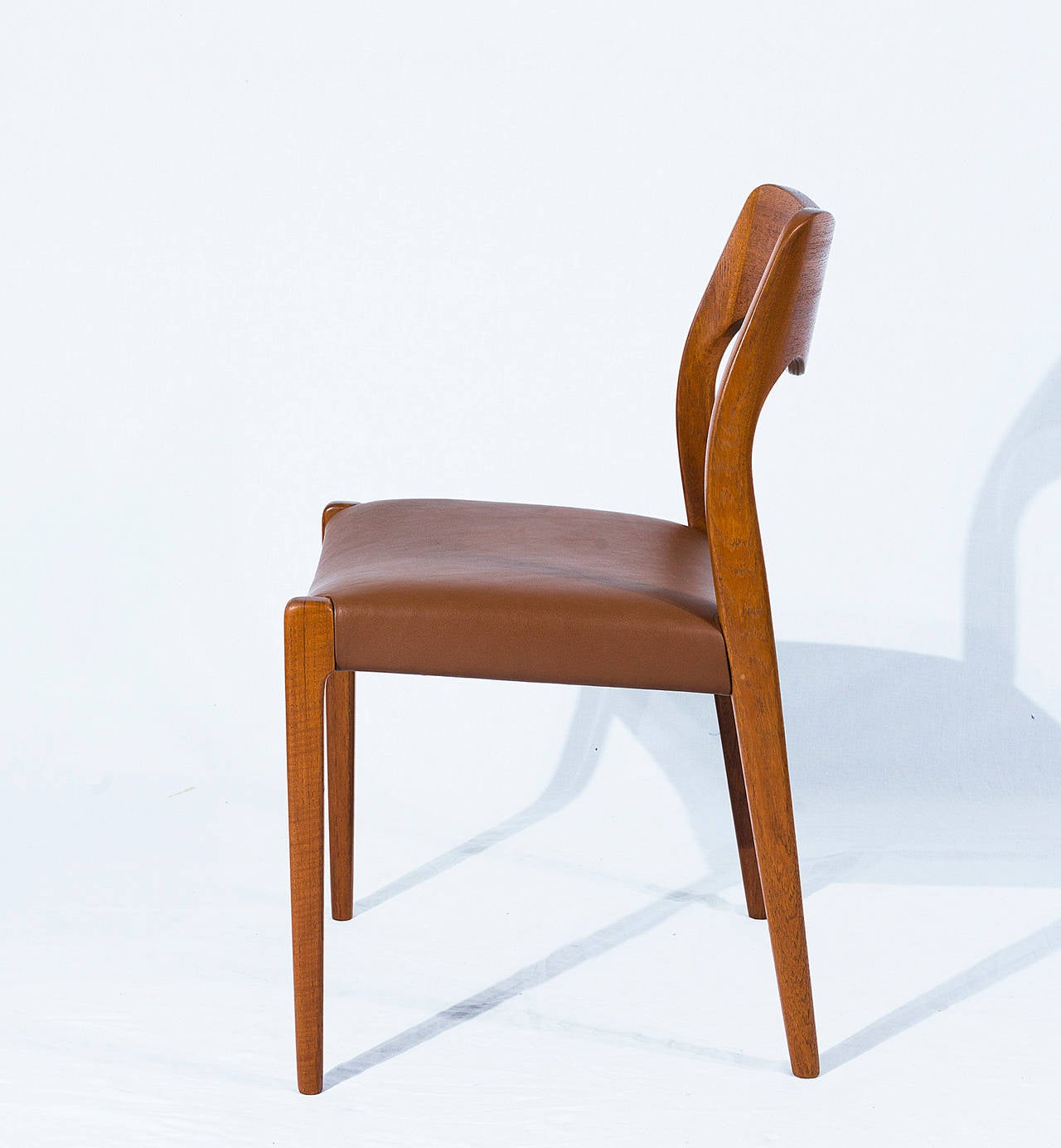 Set of Six Teak Niels Møller Model No. 71 Dining Chairs In Excellent Condition In Los Angeles, CA