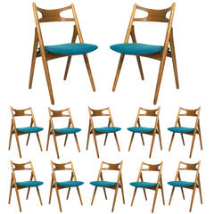 Set of 12 Hans Wegner CH 29 Dining Chairs