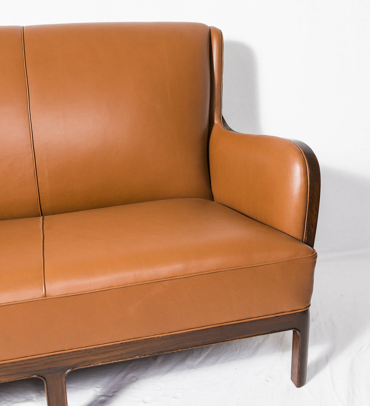 Leather Frits Henningsen Sofa For Sale