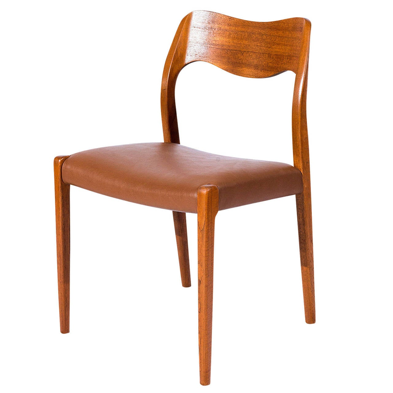 Set of 6 Teak Niels Møller Model No. 71 Dining Chairs Designed in 1951 and Produced by J. L. Moller Mobelfabrik