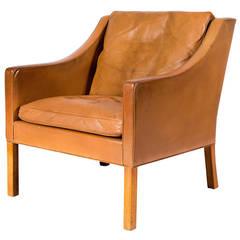 Børge Mogensen Model No. 2207 Leather Lounge Chair