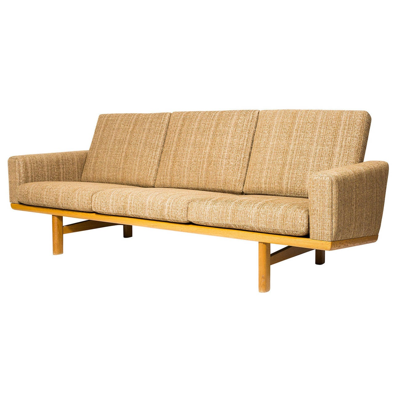 hans wegner ge 236 sofa for sale at 1stdibs. Black Bedroom Furniture Sets. Home Design Ideas