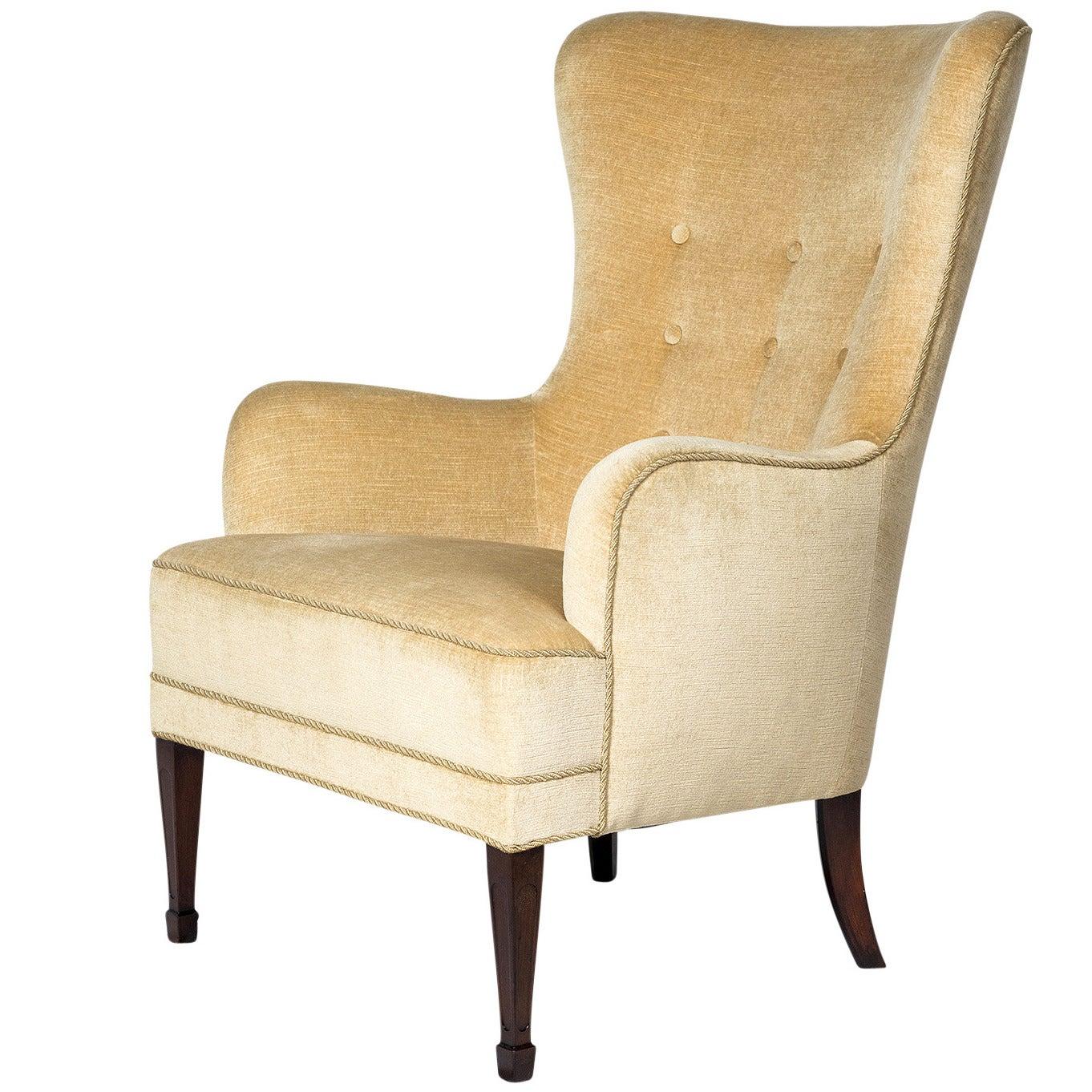 Frits Henningsen High Back Lounge Chair