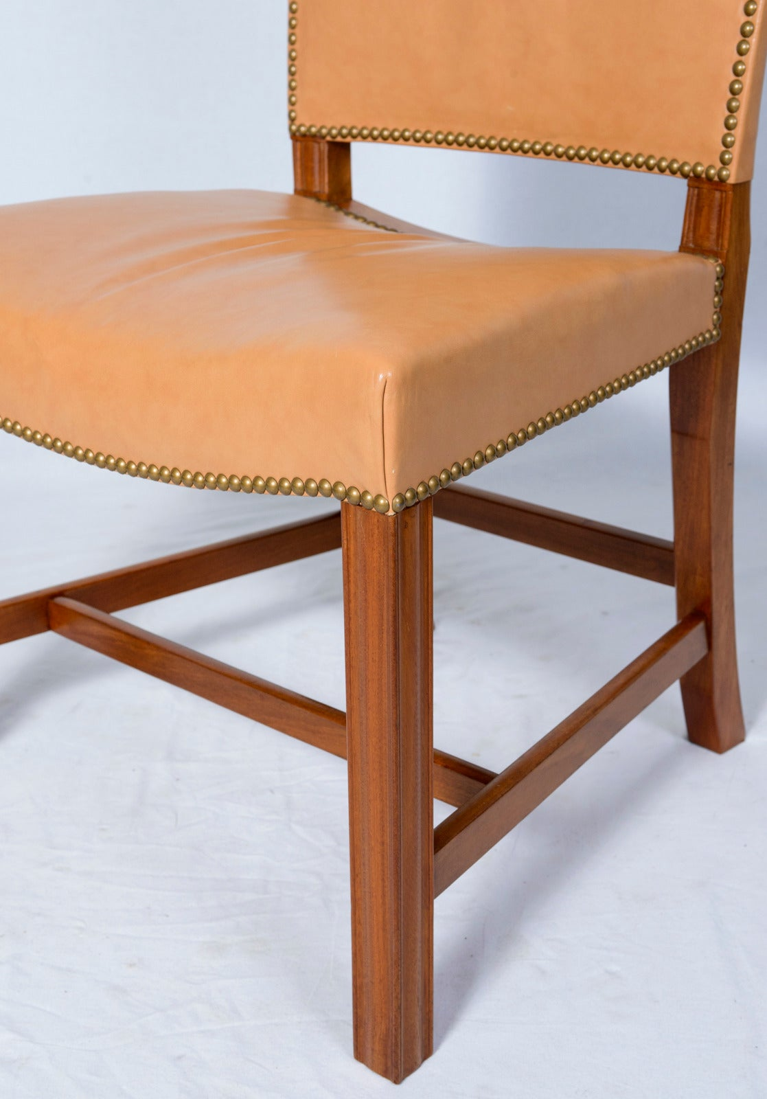 Leather Kaare Klint Side Chair For Sale