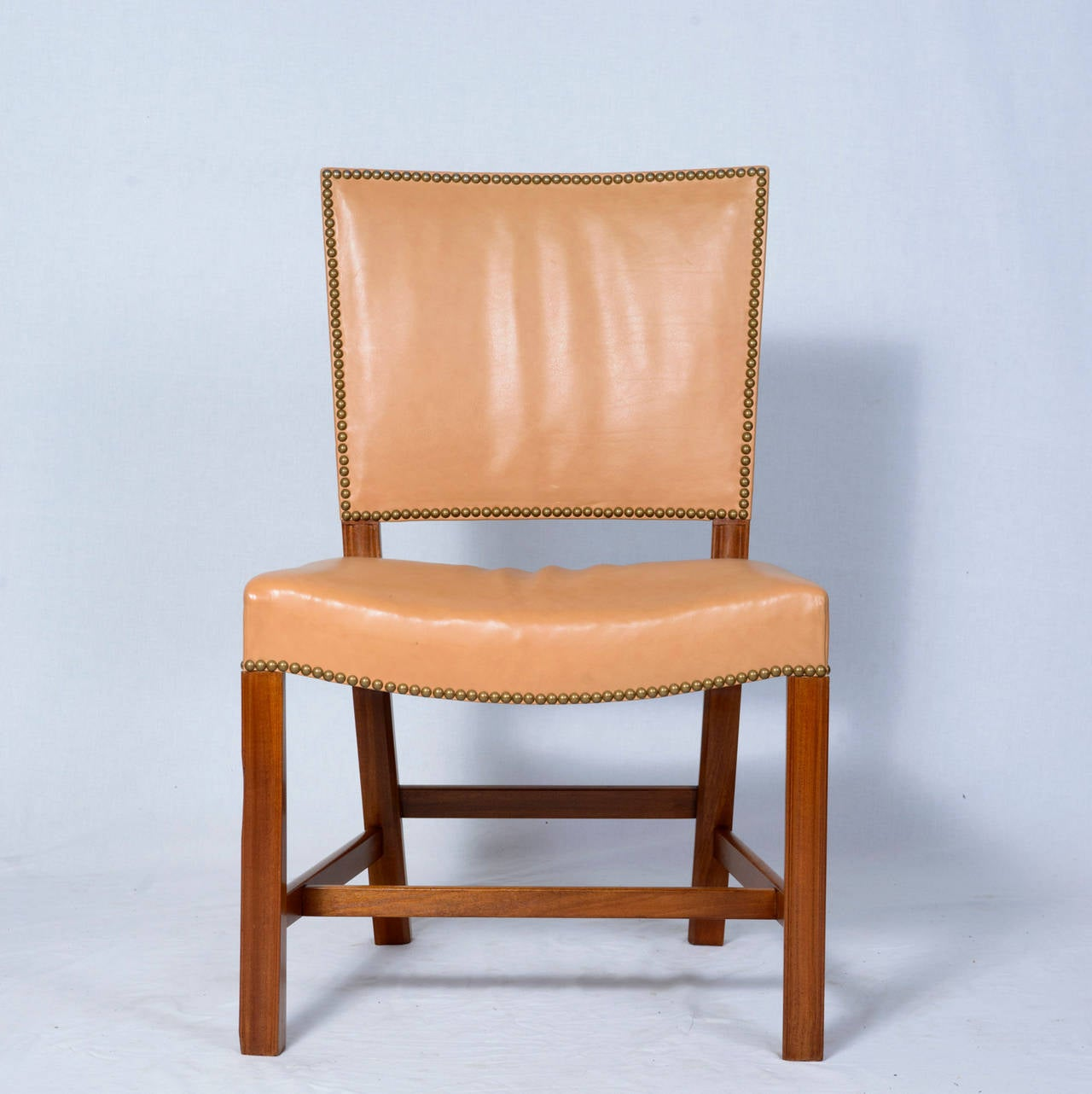 Kaare Klint side chair designed in 1927 and produced by Rud Rasmussen.