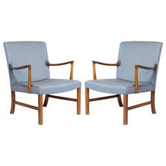 Pair of Ole Wanscher Lounge Chairs