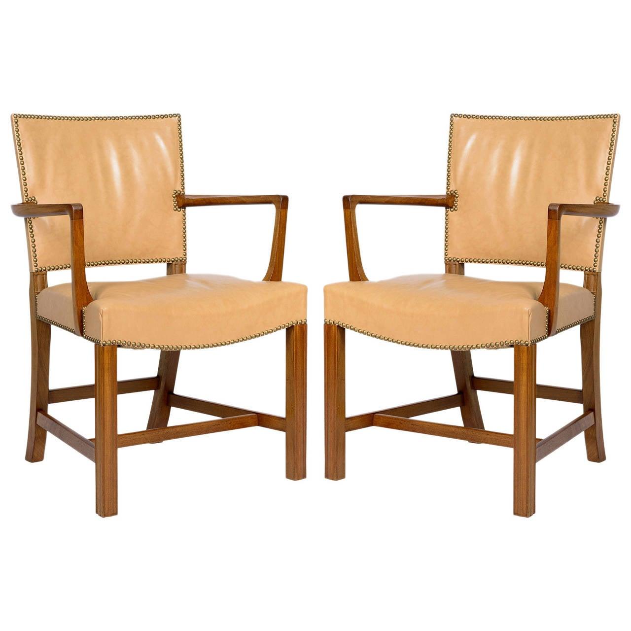 Pair of Kaare Klint Armchairs