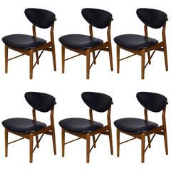 Set of Six Finn Juhl NV 55 Dining ChairsFinn Juhl Dining Room Chairs   27 For Sale at 1stdibs. Finn Juhl Chair 108. Home Design Ideas