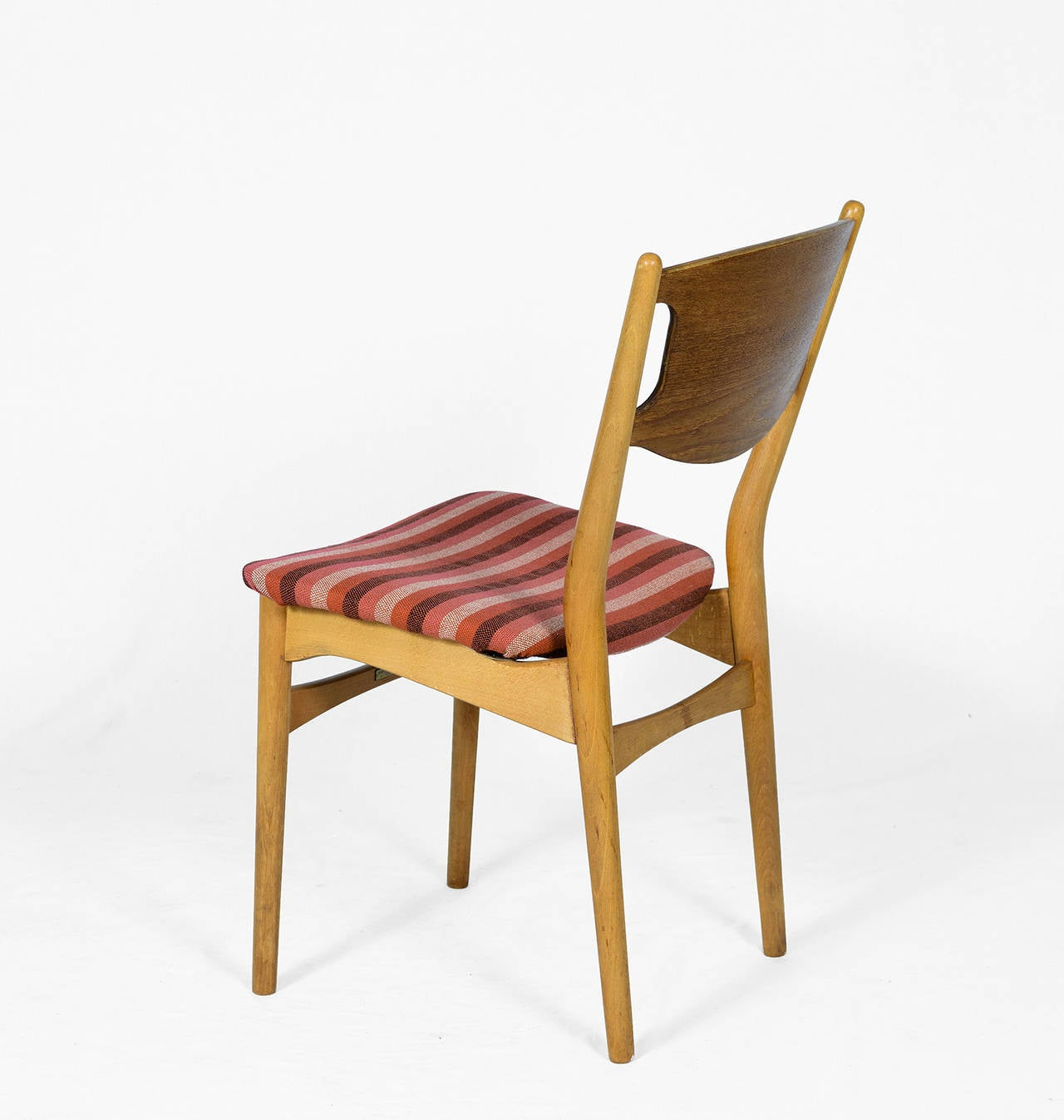 Beech Set of Four Danish Dining Chairs For Sale