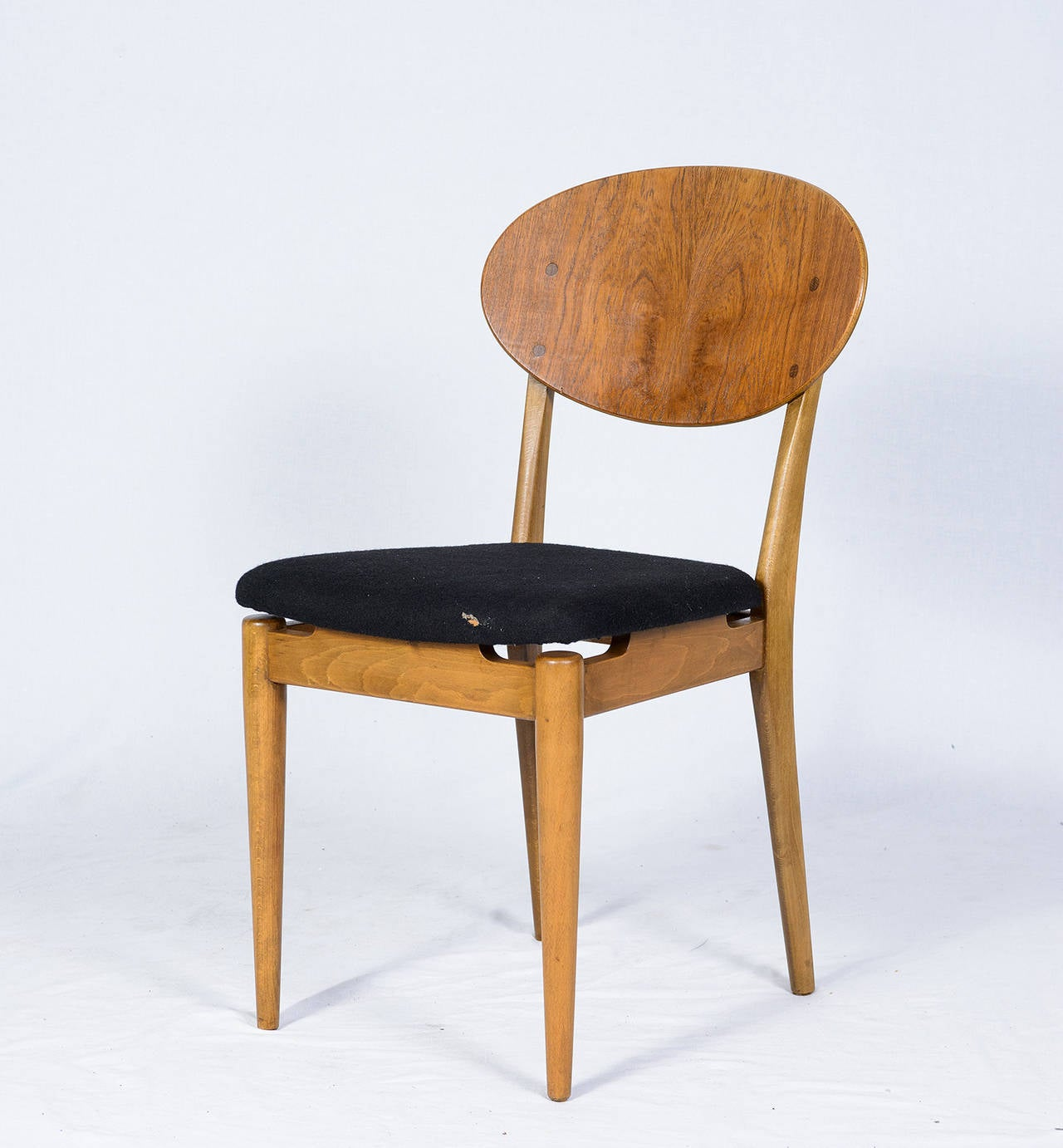 Set Of Four Danish Dining Chairs Koefoeds Hornslet