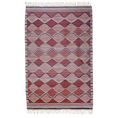 Vintage Barbro Nilsson Flat-Weave Swedish Carpet for Marta Maas-Fjetterström