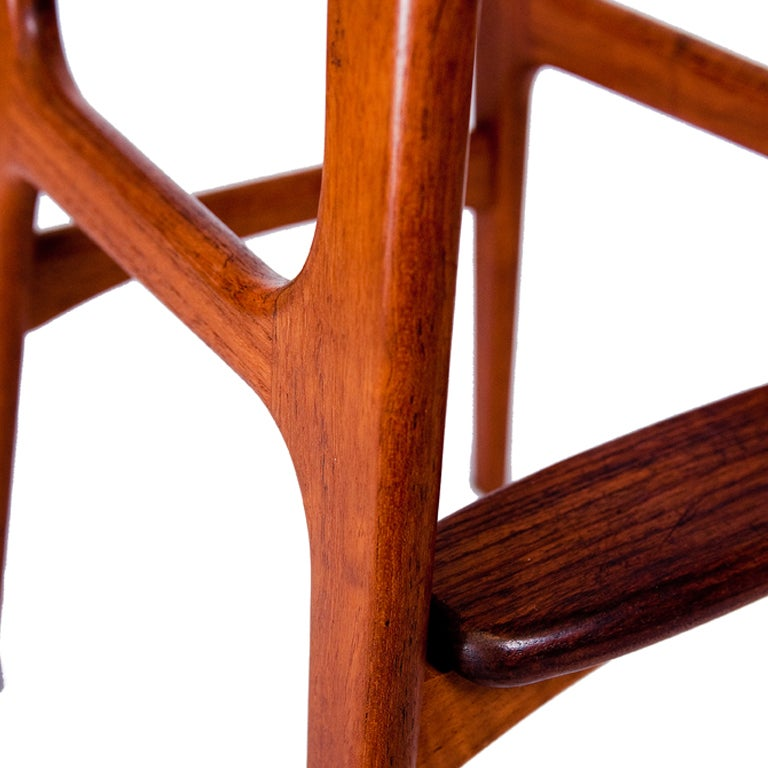 Rosewood Set of Three Erik Buck Bar Stools