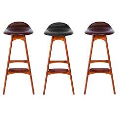 Set of Three Erik Buck Bar Stools