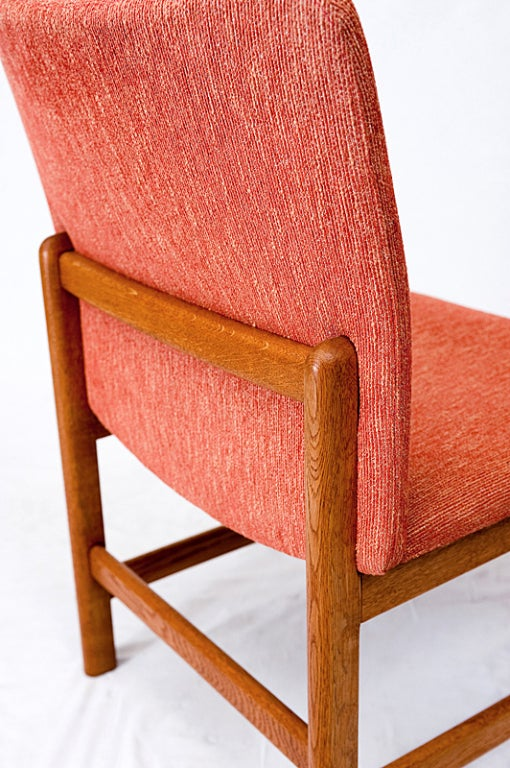Fabric Pair of Danish Chairs For Sale