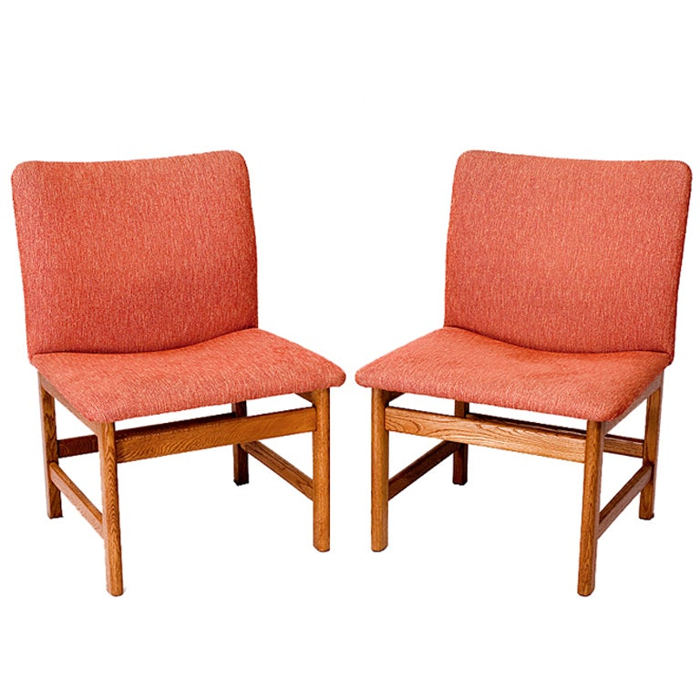 Pair of Danish Chairs For Sale