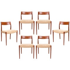Set of Six Niels Moller Chairs