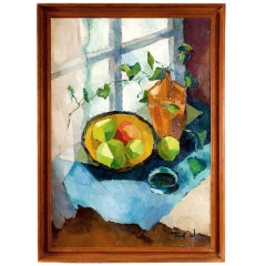 Still Life Oil Painting Dated 1957