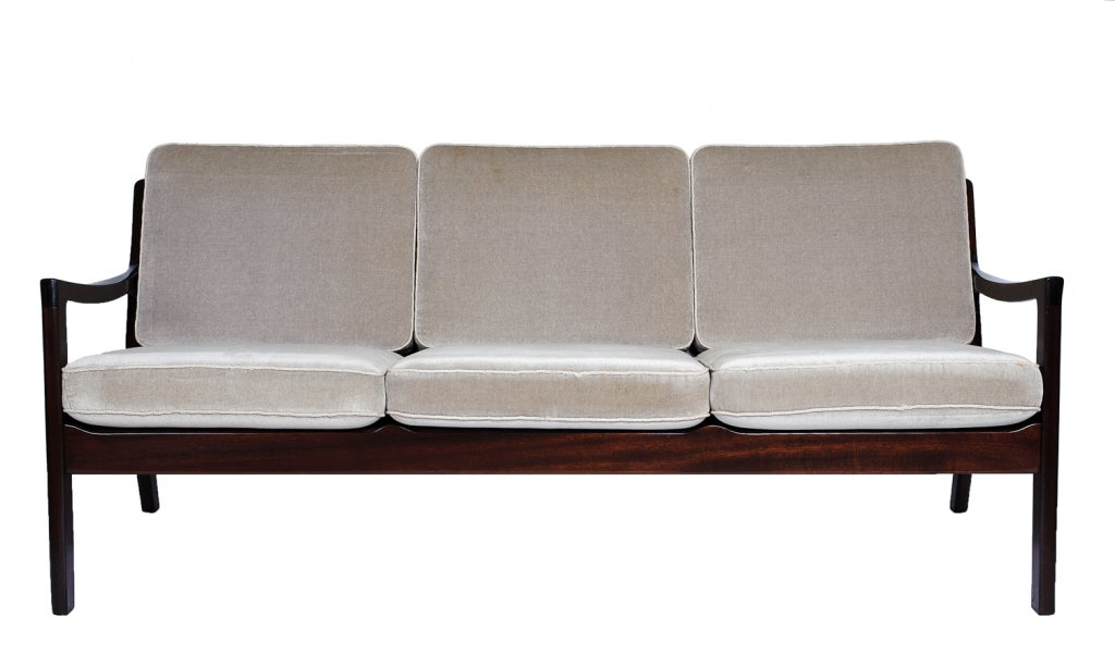 Ole Wanscher Sofa Designed in 1962 and Produced by France & Son.  Store formerly known as ARTFUL DODGER INC