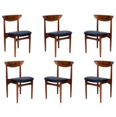 Set of 6 Rosewood Dining Chairs