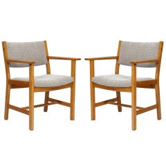 Pair of Hans Wegner Armchairs